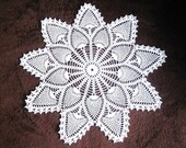 Doily HAND CROCHETED Lace Dresser Runner Dresser Scarf Topper Cotton Tablecloth WHITE