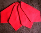 Large Cotton Christmas Holiday Tablecloth Replacement Napkin Set 4 Solid Red 4 NWOL