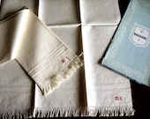 TOWELS Kitchen Bath Vintage Washstand Guest Display Set 2 TOWEL Linen Huck NEW Italy