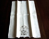 Table Cloth Towels Runner Kitchen Bath Guest Towel Madeira Cut Lace Italy NWT