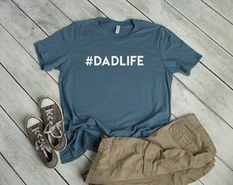4a014cc94 Dadlife T-Shirt - Hashtag Dad Life - #dadlife - Men's Short Sleeve Tee -  Dad Tee - Dad T Shirt - Daddy - Father's Day - Gift for Him - Shirt