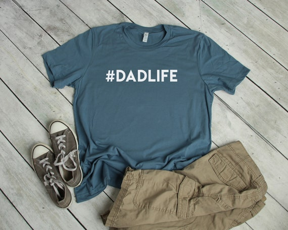 Dadlife T Shirt Hashtag Dad Life #dadlife Men's Short Sleeve Tee Dad Tee Dad T Shirt Daddy Father's Day Gift for Him Shirt