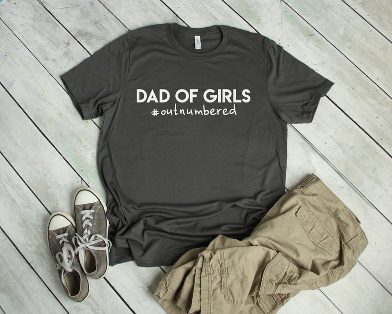 dcfa6026 Dad of Girls T Shirt Outnumbered Girl Dad Shirt Funny   Etsy
