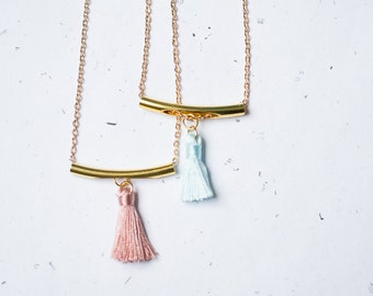 Tassel Necklace Pendant Layered Necklace