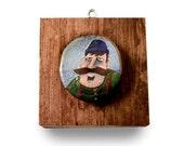 Lumberjack Biff - original acrylic painting