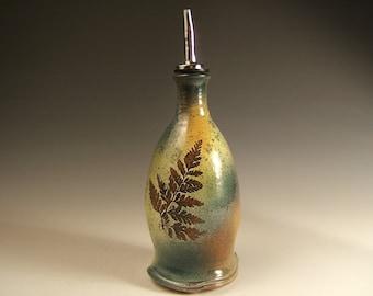 olive oil dispenser, Silver Maple/Fern