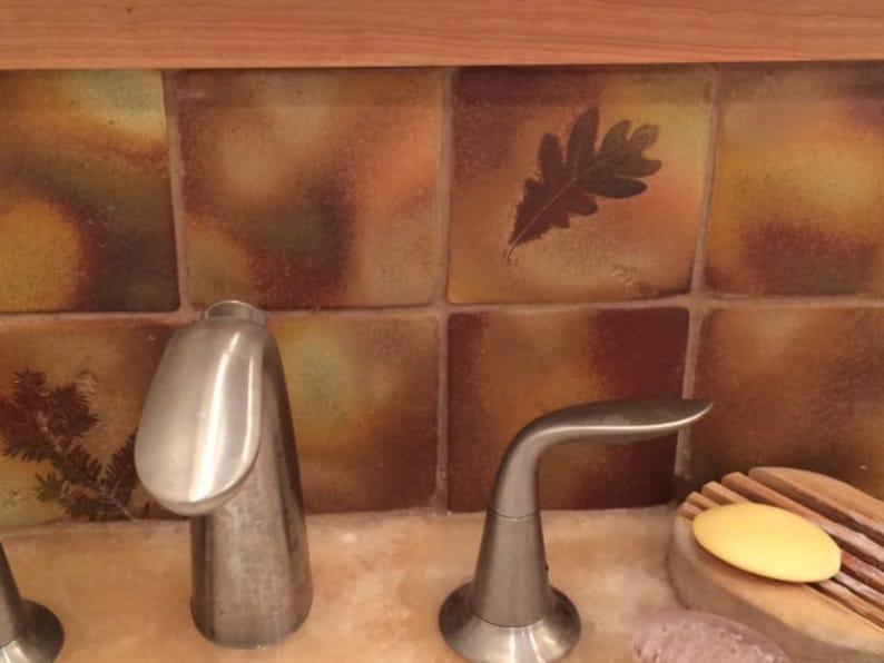 Fatto a mano backsplash piastrelle capanna rustica botanica etsy