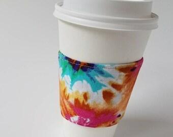 Tie Dye Reusable Coffee Sleeve