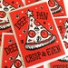 Katelyn Hill reviewed Pizza Christmas cards (pack of 5)  Funny Pun Christmas Card multipack Funny Christmas cards Lino print card, Pun Christmas