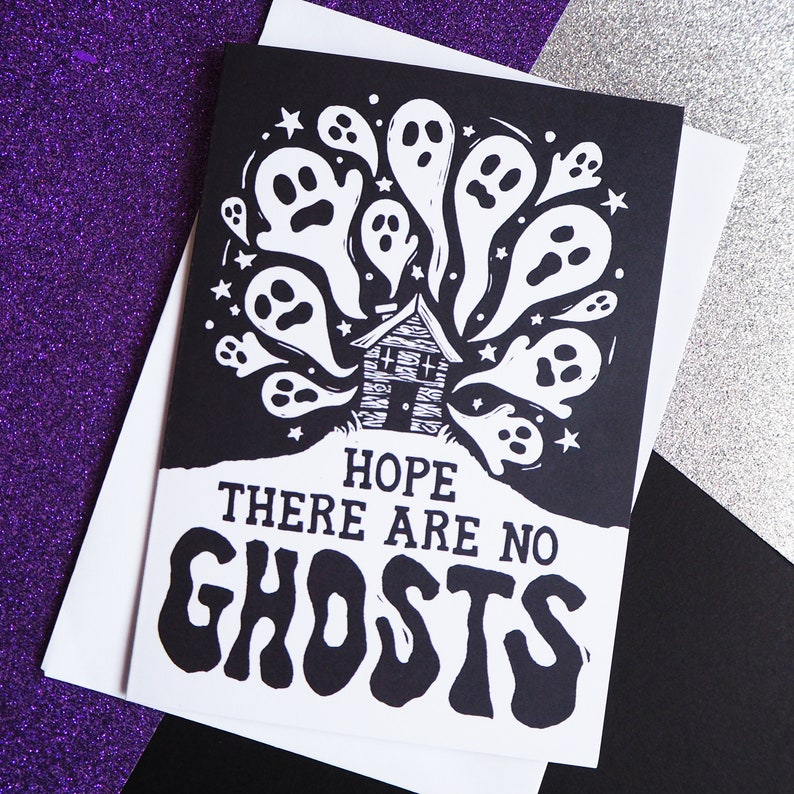 Funny Haunted New House Card Moving house card New Home image 0