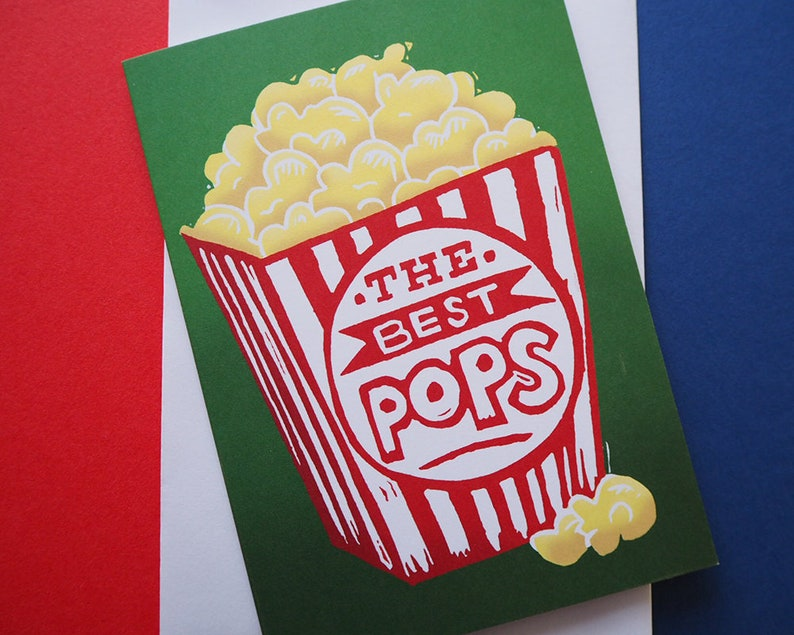 The Best Pops Card Fathers Day Card Dad Birthday Card Movie image 0