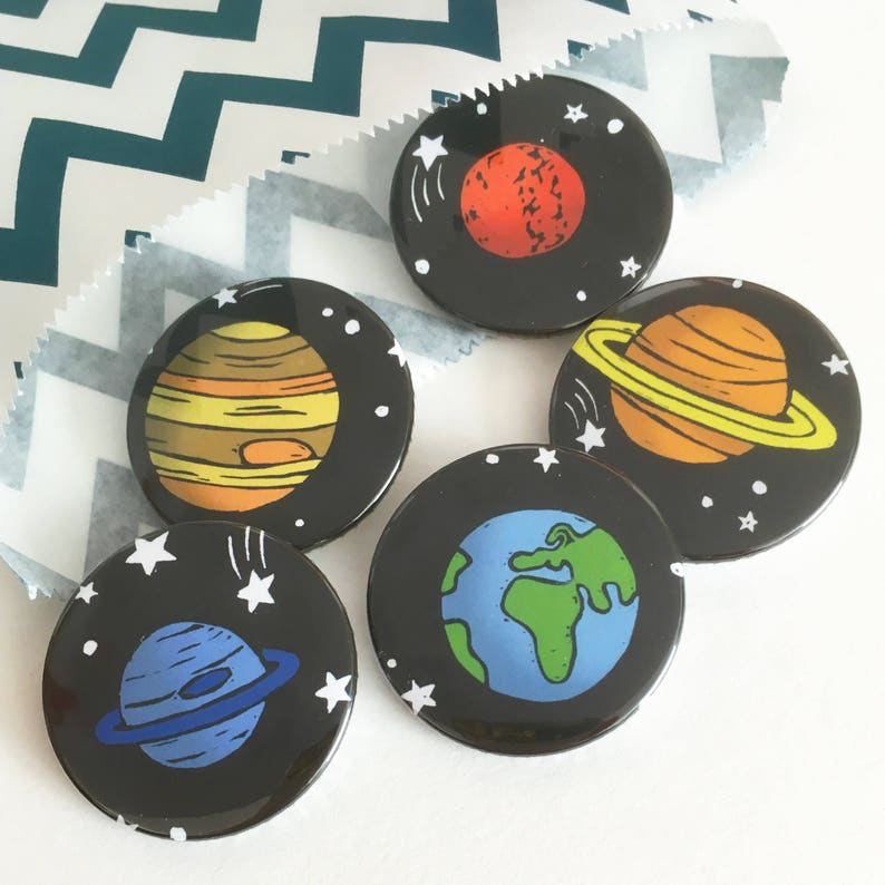 Space Planet badges science gift sci fi badges lapel pin image 0