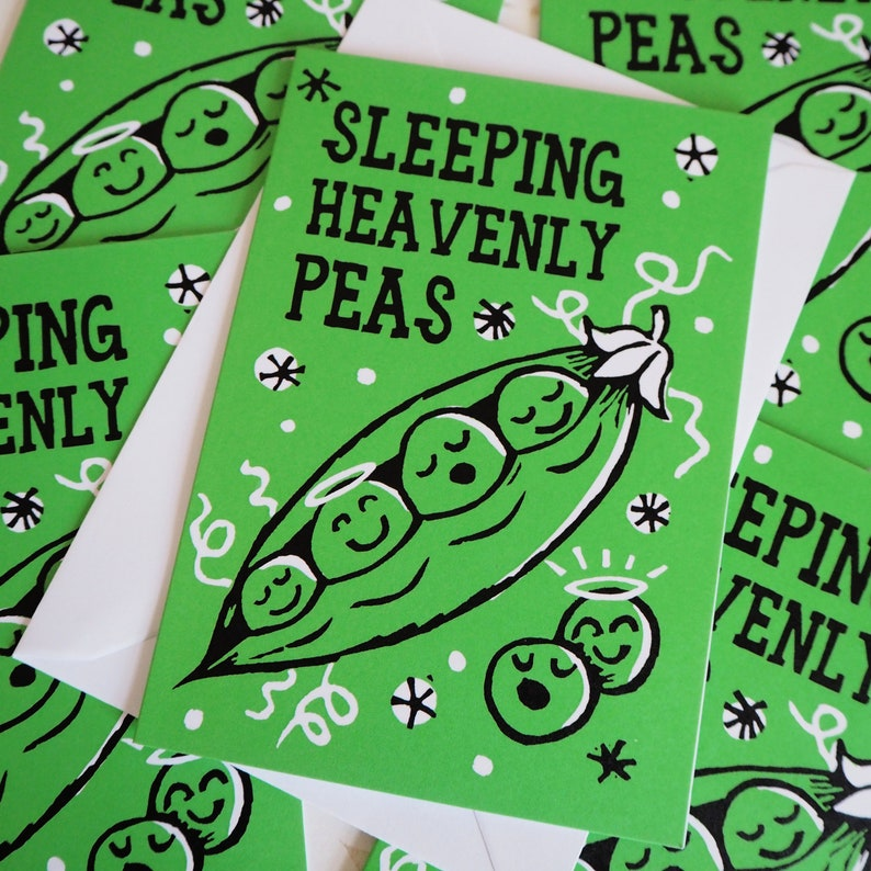 Heavenly Peas Funny Christmas cards pack of 5 multipack image 0