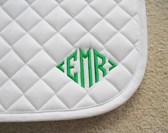English All Purpose Saddle Pad with Diamond Monogram