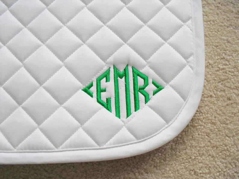 English All Purpose Saddle Pad with Diamond Monogram image 0