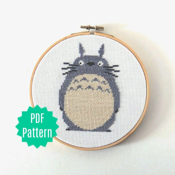 Totoro Cross Stitch Pattern My Neighbor Totoro Anime | Etsy
