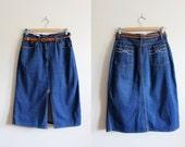 Vintage Britches 39 N 39 Things High Waist Denim Skirt