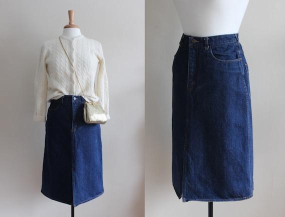 Vintage 1980s Liz Claiborne Denim Skirt
