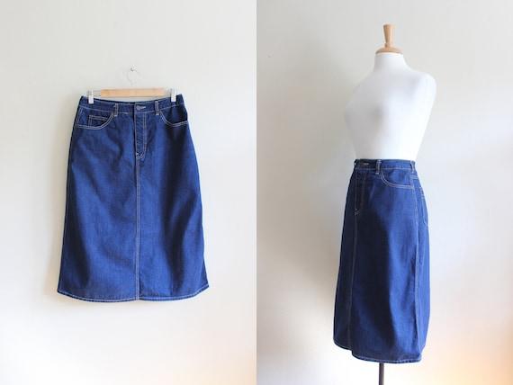 Vintage 1980s Calvin Klein Denim Skirt