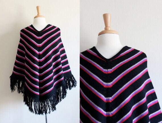 Vintage 1960s Barabra Lee Multicolor Black Stripe