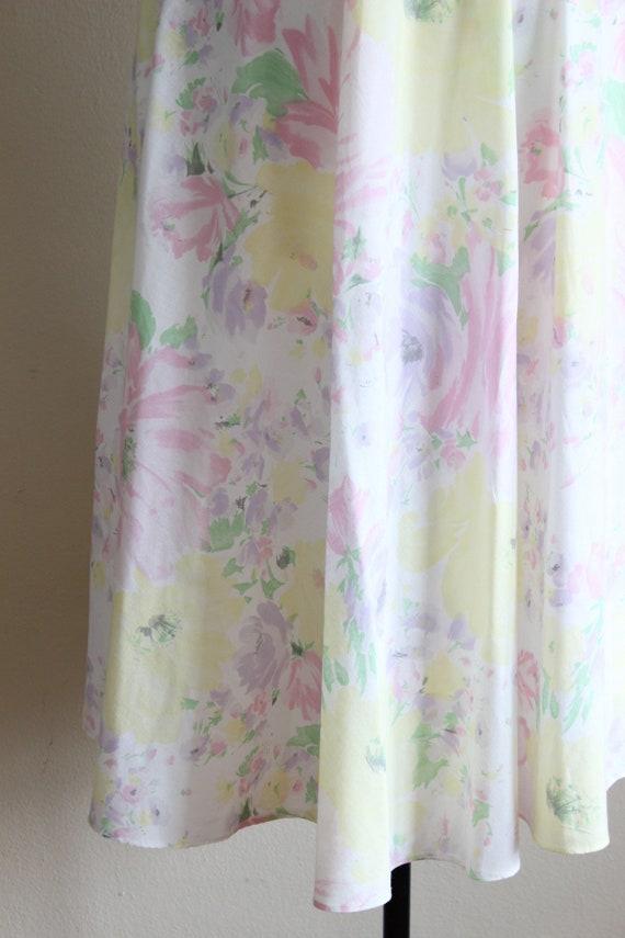 Vintage 1970s Pastel Floral Shirtwaist Dress - image 3