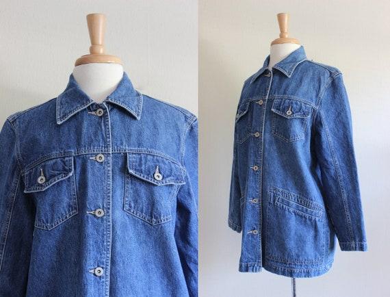 Vintage 1990s Bill Blass Jeans Denim Chore Coat