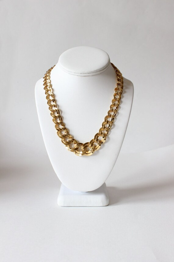 Vintage Monet Goldtone Chain Necklace