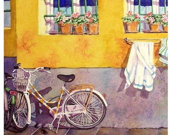 Bicycle Art, Bike Art Print, Road Trip, Print Sale, Bicycle, Wall Art, Travel, Wall Art Decor, Watercolor, Painting, Aquarelle, LaBerge
