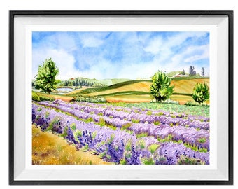 Large Original Painting, Floral wall art, Purple flowers, Lavender, Summer art, For the fun of it, Garden painting, Spring art, 20 x 30 in