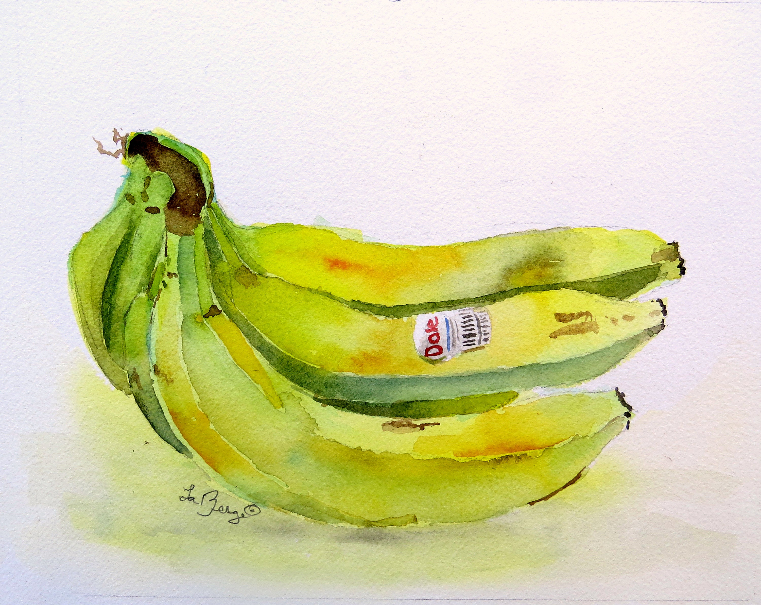 Painting of Bananas, Food Art, Kitchen wall art, Kitchen Pictures ...