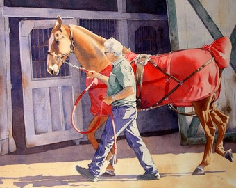 Animal art print, Fine Art Horse Art, Saddle bred horse, Equestrian art, Equine art Limited Edition, Watercolor, ,WatercolorByMuren