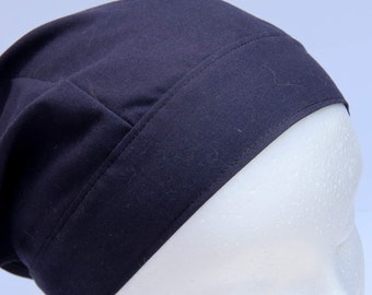 Headband Kerchief, Adult Triangle Head Scarf, Bandanna, Upcycled Vintage Sheet, Black