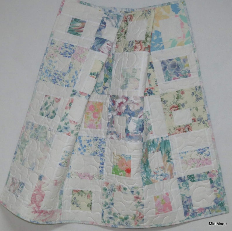 Baby Crib Quilt Contemporary Modern Upcycled Vintage ...
