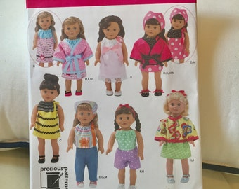New Simplicity Pattern 2302 18 inch doll clothes