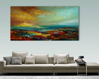 Extra Large Artwork Palette Knife Abstract Painting Seascape Painting Knife Painting Wall Art Ocean Painting On Canvas Acrylic painting