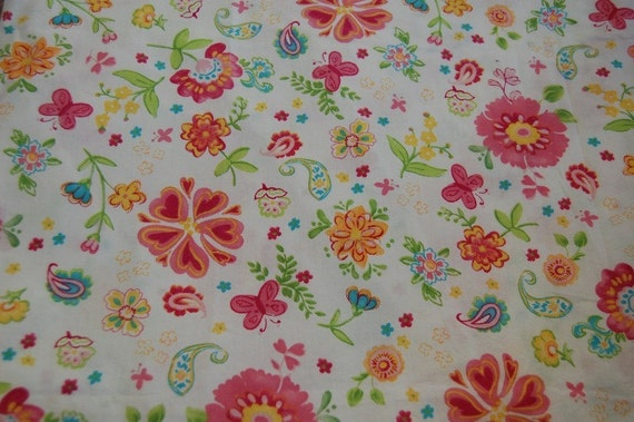 Pottery Barn Kids Garden Party Euro Floral Fabric 1 Yard   Etsy