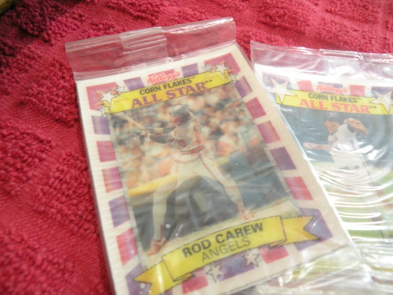 1992 Kelloggs Corn Flakes All Star Hologram All Star Baseball Cards Rod Carew