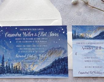 Bayside Puget Sound Printable Wedding Invitations Seattle Etsy