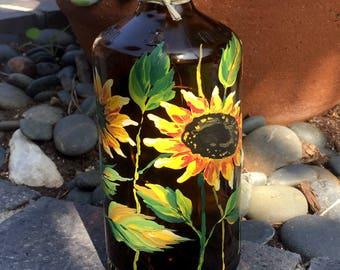 Lighted Bottle. Table Centerpiece. Gift for Her. Gift for Him. Hostess Gift. Housewarming Gift. Patio Decor. LED lights. Summer decor