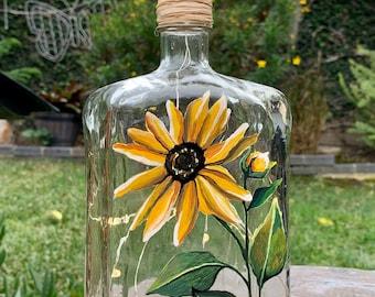 Lighted Wine Bottle. Patio Decor. Home Decor. Gift for Her. Housewarming Gift. Birthday Gift. Restaurant Decor. Patio Decor