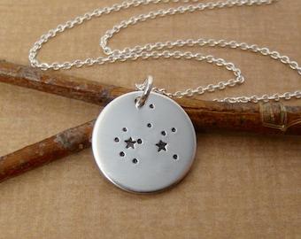 Simple Constellation Zodiac necklace- Sagittarius necklace - Custom constellation of your choice - Sterling silver Zodiac necklace