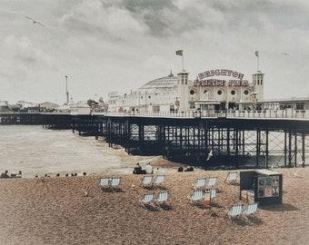Brighton Pier - Vintage UK Travel Photography - British Seaside Art