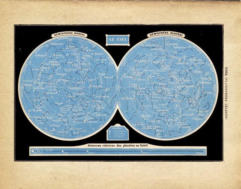 Vintage Constellations Print Le Ciel Outer Space image 0