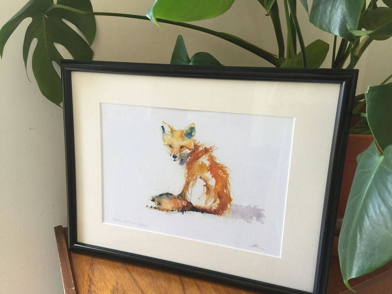 home decor LIMITED edition PRINT /'red GROUSE/' wall art animal art wildlife animal art hand signed illustration nursery art