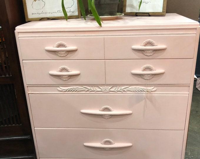 Pink Art Deco dresser