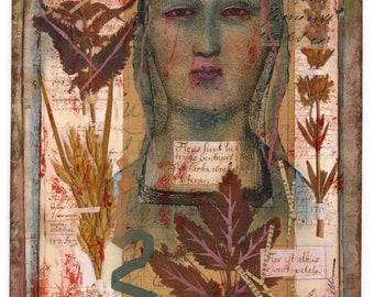 Original Artwork, BOTANICAL REVERIE, Mixed Media Collage by Lynne Perrella