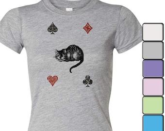 Alice in Wonderland T-shirt, Alice in Wonderland Shirt - Women's Shirt Tee, Alice in Wonderland by Lewis Carroll Shirt, Cheshire Cat