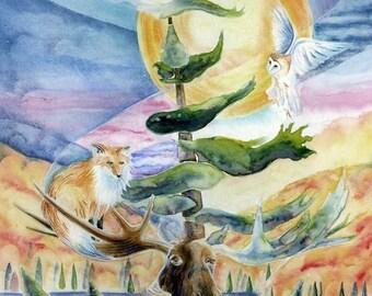 Large Northern Dreams Giclee Fine Art Print