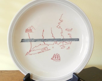 NYNH&H Merchants Pattern Luncheon Plate - New York, New Haven and Hartford Railroad
