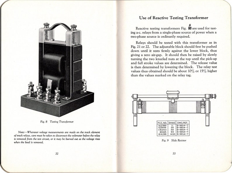 1931 Union Switch & Signal Pocket Manual - A C  Relays